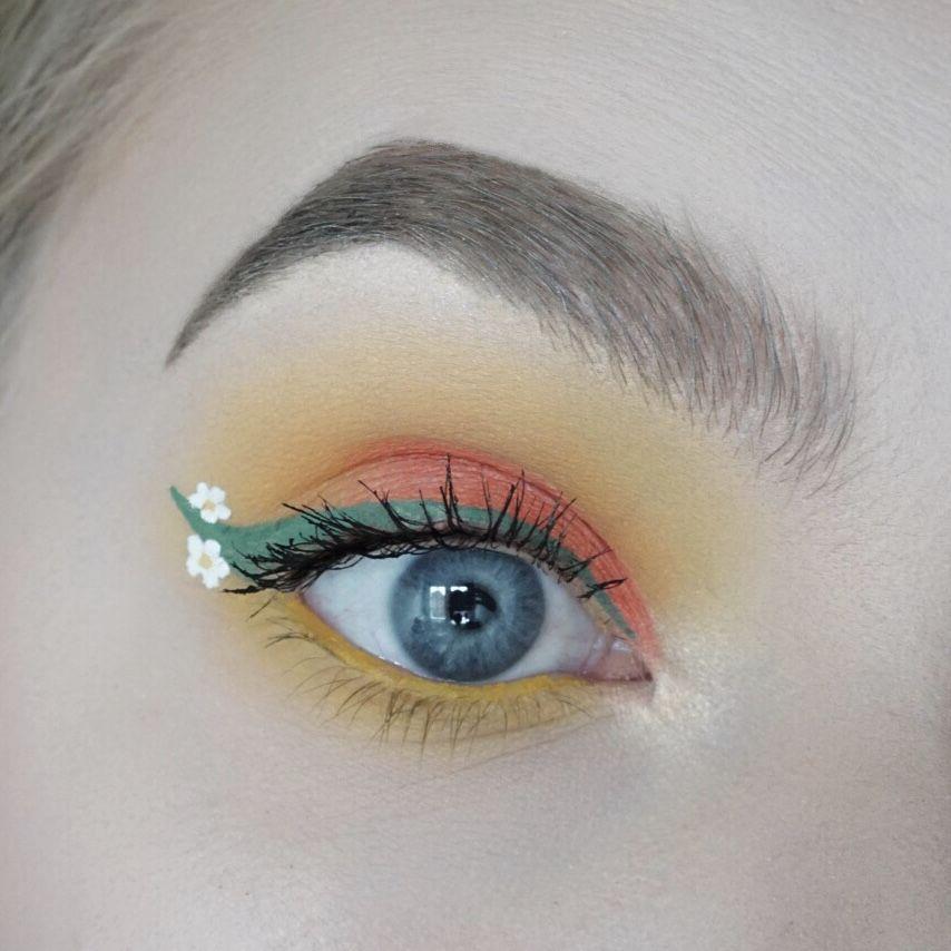 Eyeshadow Tutorial Tropical Eyes Easy Step By Step Makeup Tutorial