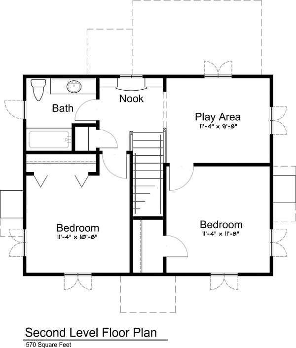Cottage Style House Plan 3 Beds 2 Baths 1292 Sq Ft Plan 43 110 Cottage Style House Plans House Plans Small House Floor Plans