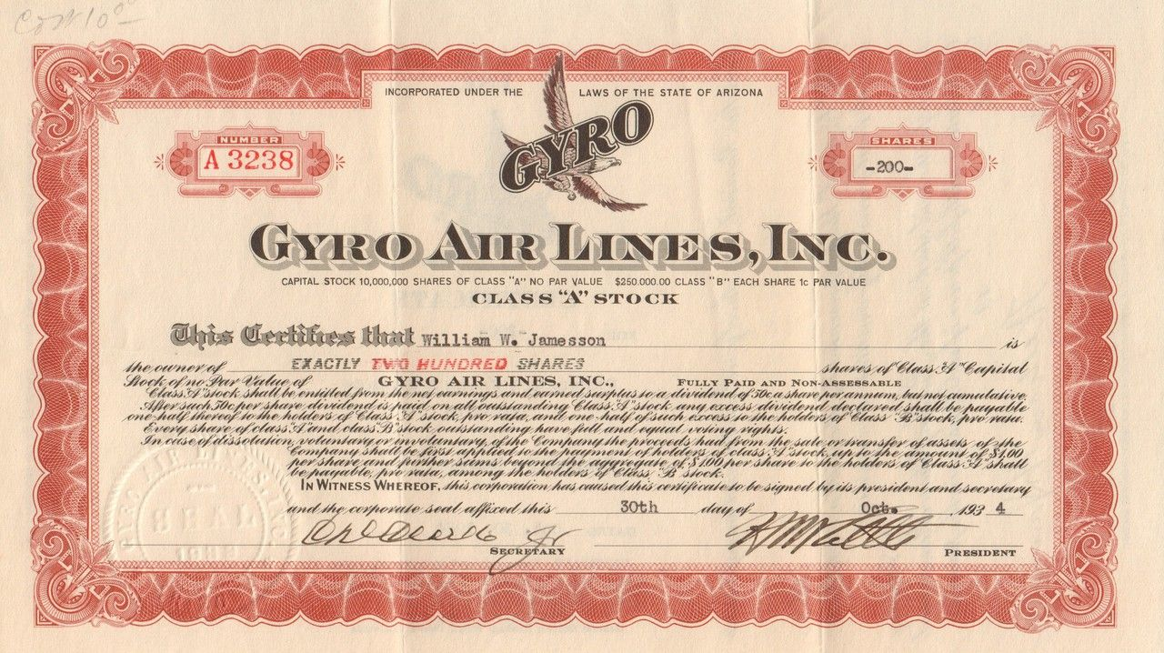 Gyro air lines inc 1934 with images airline