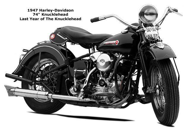 Knucklehead Harley › Photo Of A 1947 Harley-davidson 74″ Knucklehead