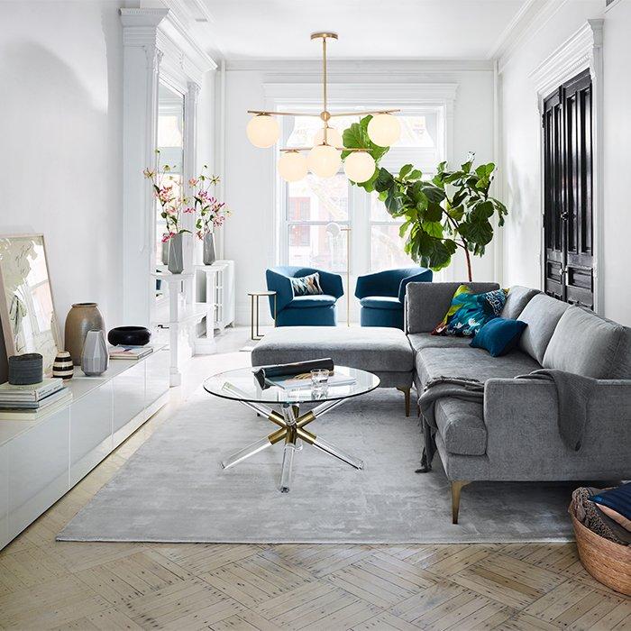 Living Room Inspiration | west elm | Condo living room ...