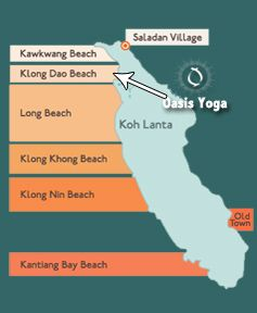 Oasis Yoga Map koh lanta Pinterest Beach