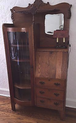 Antique Secretary Desk Rare Double Curved Glass Door Antique Secretary Desks Curved Glass Antique Cabinets