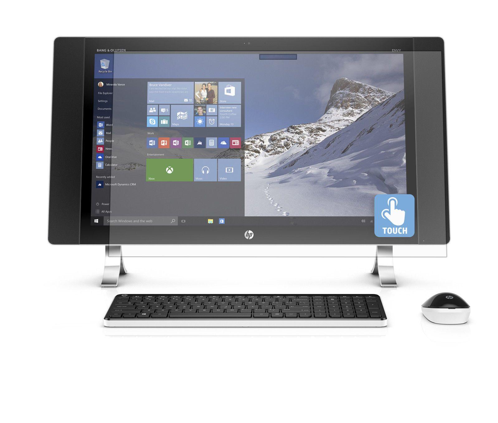 "HP ENVY 24 n025 23 8"" 4K UHD 3840 x 2160 Touch Screen All In e Intel Core i5 8GB Memory 1TB SSHD UHD Touch AMD R9 A375 4G DGPU Win 10"