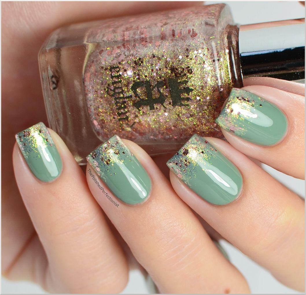 verde caminar en menta uas verdes verde y oro de oro de menta inglaterra clavos de oro puntas de las uas ideas para uas
