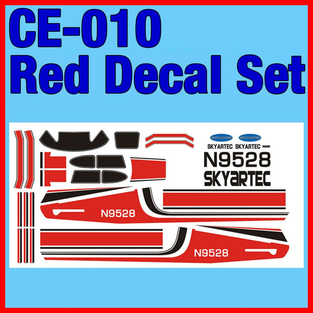 Skyartec 5ch Cessna 182 Rc Airplane Parts Red Decal Set Sticker Ce 010 010 Plane Rc Airplanes Cessna Decals [ 1200 x 1200 Pixel ]