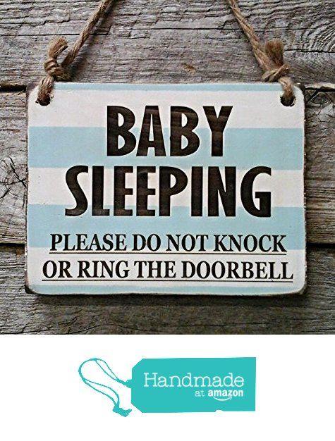 Baby Sleeping Small Hanging Sign Nursery Decor Baby Sleeping