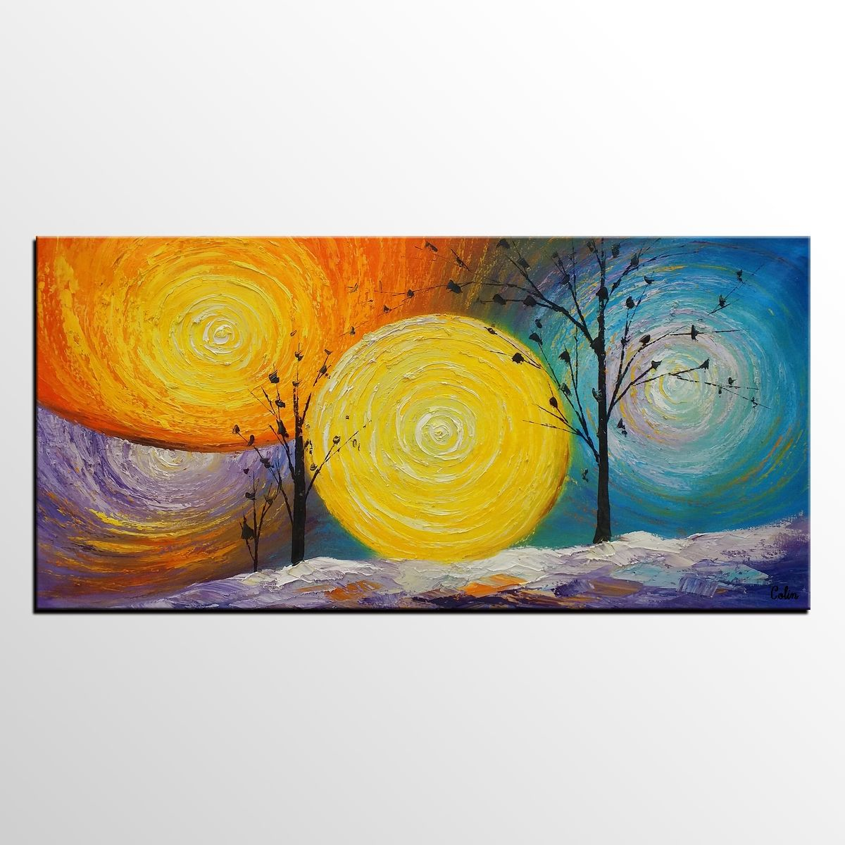 Impasto Painting, Abstract Painting, Tree of Life Painting, Kitchen ...