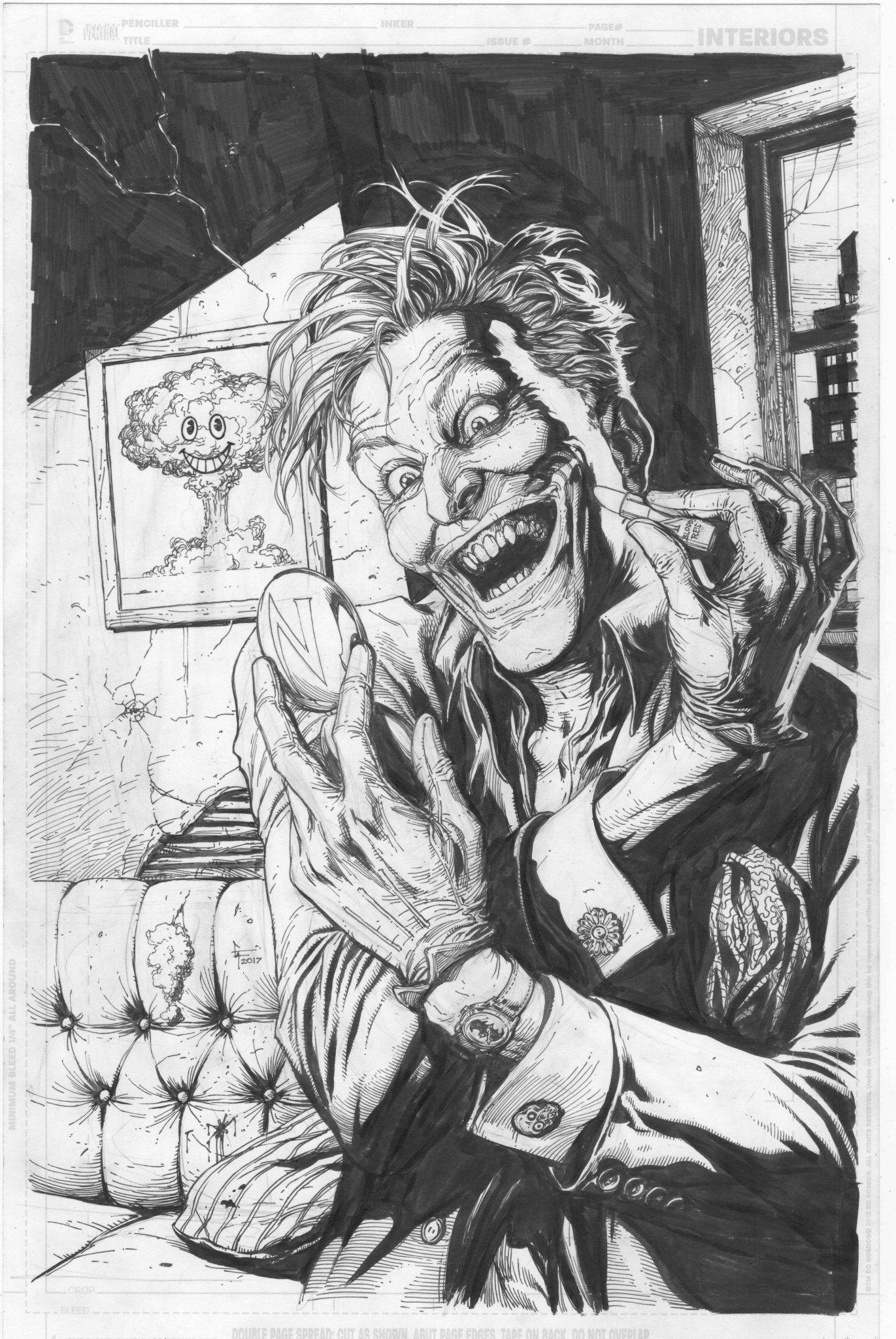 Awesome Doomsday Clock Cover By Gary Frank Joker Art Joker