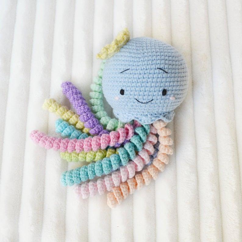 Crochet Jellyfish Stuffed Animal Stuffed toy baby safe toy