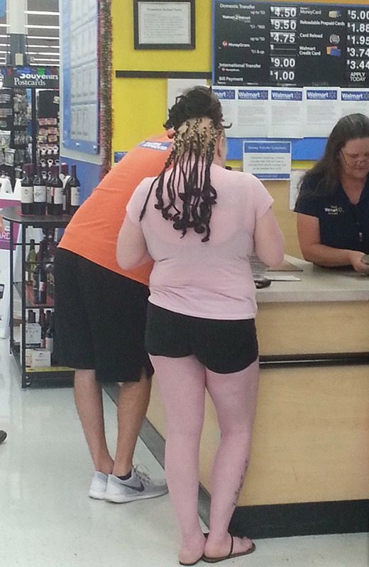 Diy Hairdo At Walmart Pale Blond And Black Hair Extensions Funny