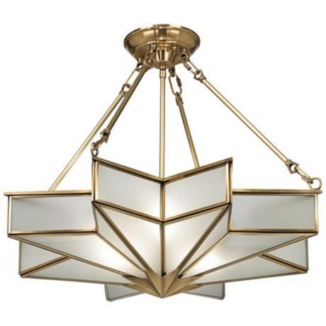 Glass star 24 34 wide antique brass pendant light brooke glass star 24 34 wide antique brass pendant light aloadofball Choice Image