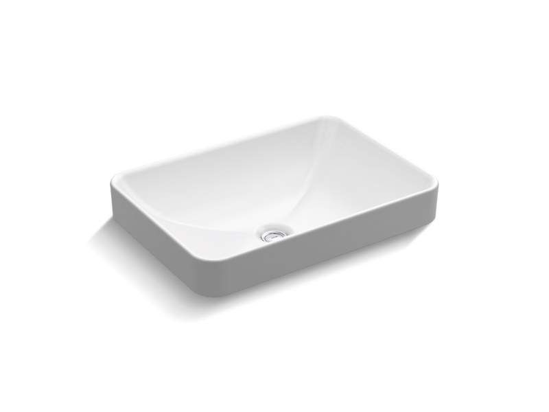 Kohler K 5373 Drop In Bathroom Sinks Above Counter Bathroom Sink Rectangular Vessel Sink