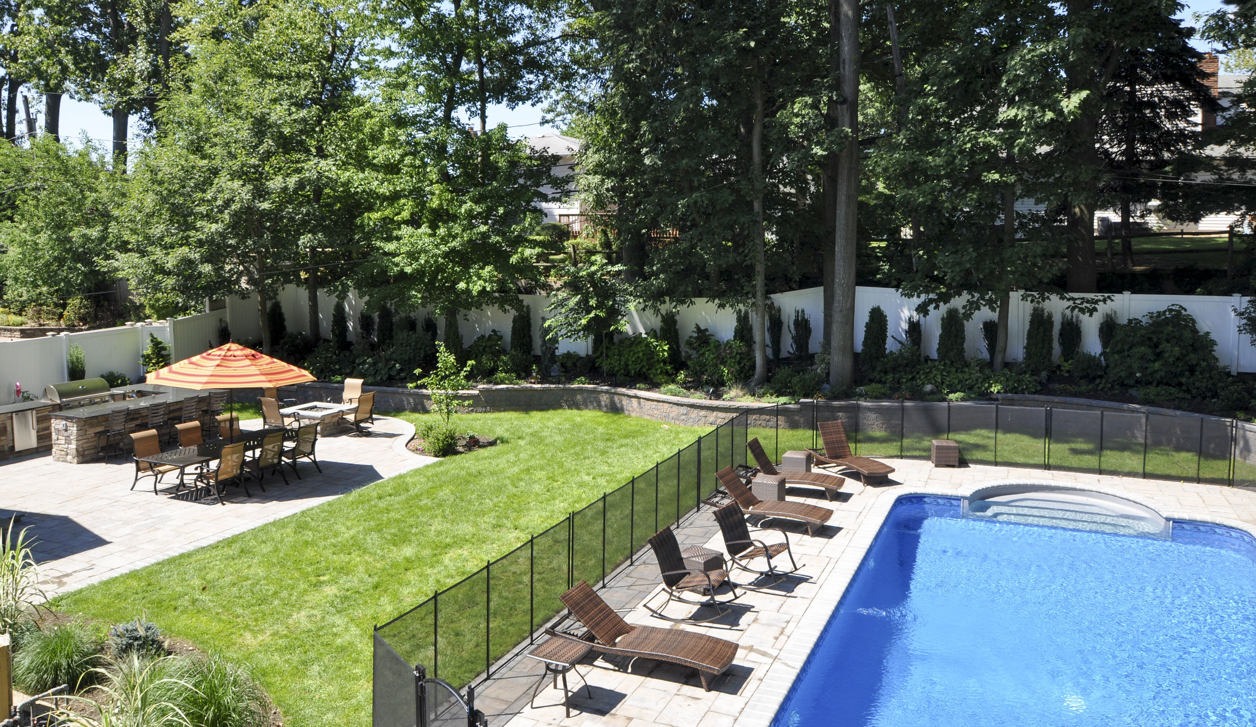 Cambridge Paver Patio And Retaining Wall System, Landscape Lighting,  Plantings, Sod, Outdoor