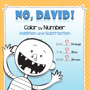 No David Color By Number Addition And Subtraction Addition