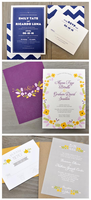 new Smitten on Paper wedding invitations.