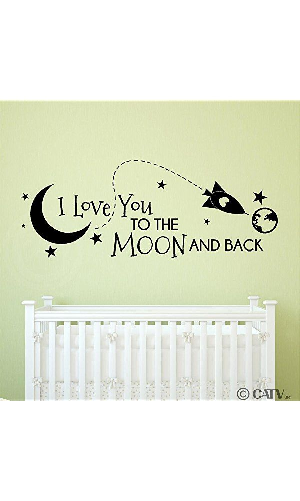 Rocket I Love You To The Moon And Back vinyl lettering decal home ...