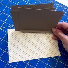How To Create A Hidden Hinge Waterfall Mini Album Page
