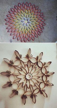 Ideas En Un 2 X 3 Usa Los Tubos De Carton Para Crear Estas Hermosas Coronas Navidenas Buzztmz Toilet Paper Crafts Diy Quilling Crafts Paper Crafts Diy