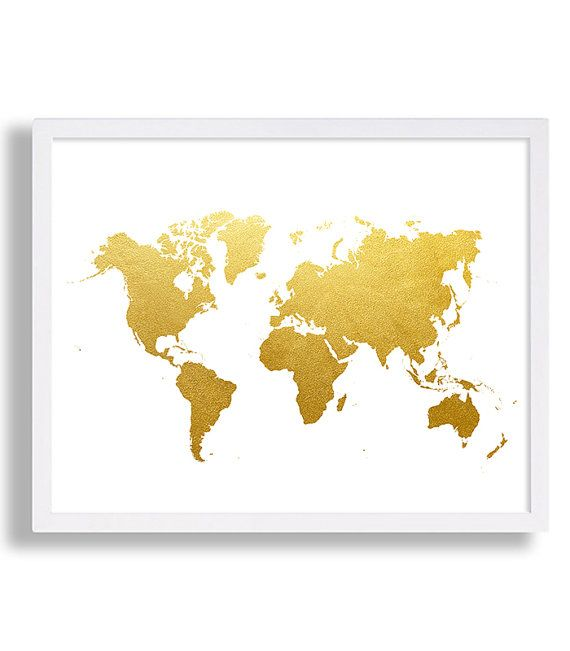 World map print faux gold art print modern decor globe poster world map print faux gold art print modern decor globe poster minimalist art shiny gold foil gumiabroncs Image collections