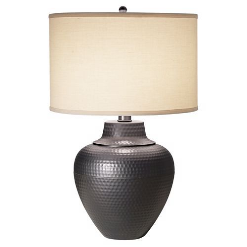 Maison loft hammered pot table lamp by franklin iron works lamps plus open box outlet