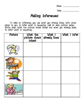 Inference Worksheet Reading Ideas Pinterest Inference