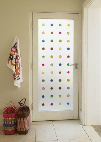 ideas para decorar cristales de ventanas esmerilados