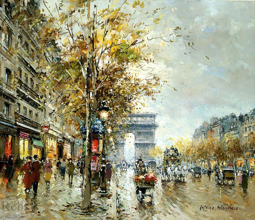 Antoine Blanchard Marcel Masson Champs Elysees Peinture