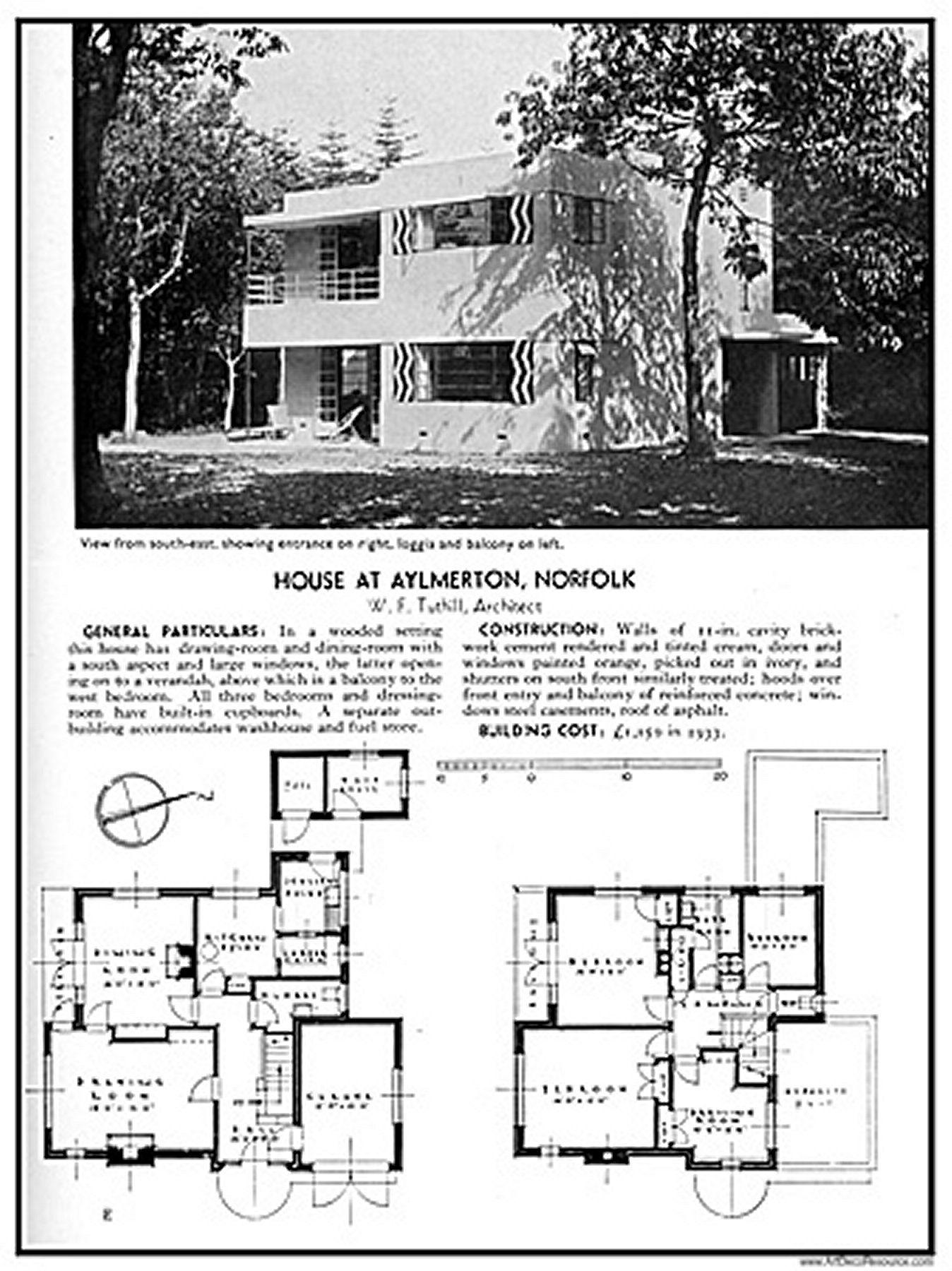 House At Aylmerton Norfolk Uk Art Deco Home Vintage House