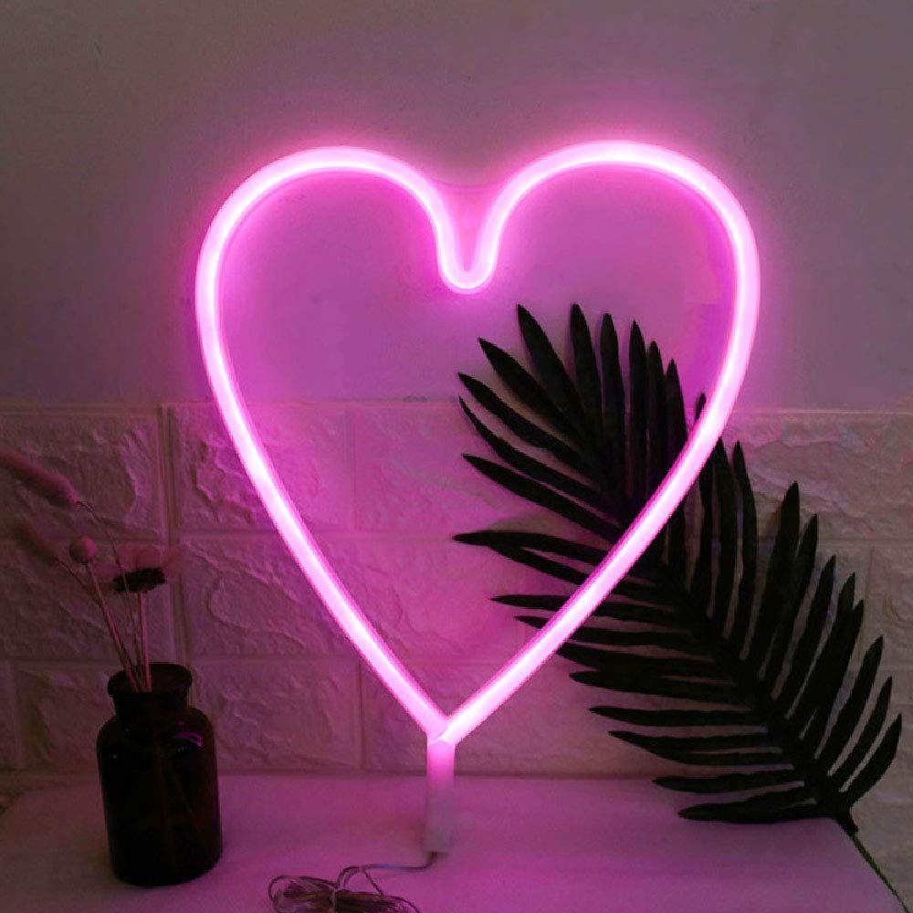Love Neon Sign LED Wall Light Visual Artwork Lamp Weeding Valentine/'s Day Decor