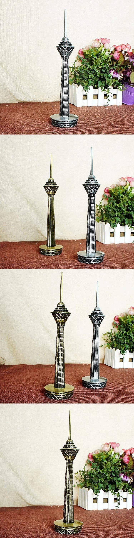 Iran Milad Tower Model Metal Craft Electroplating Desktop Home Decor  Souvenir Gifts Photography Props