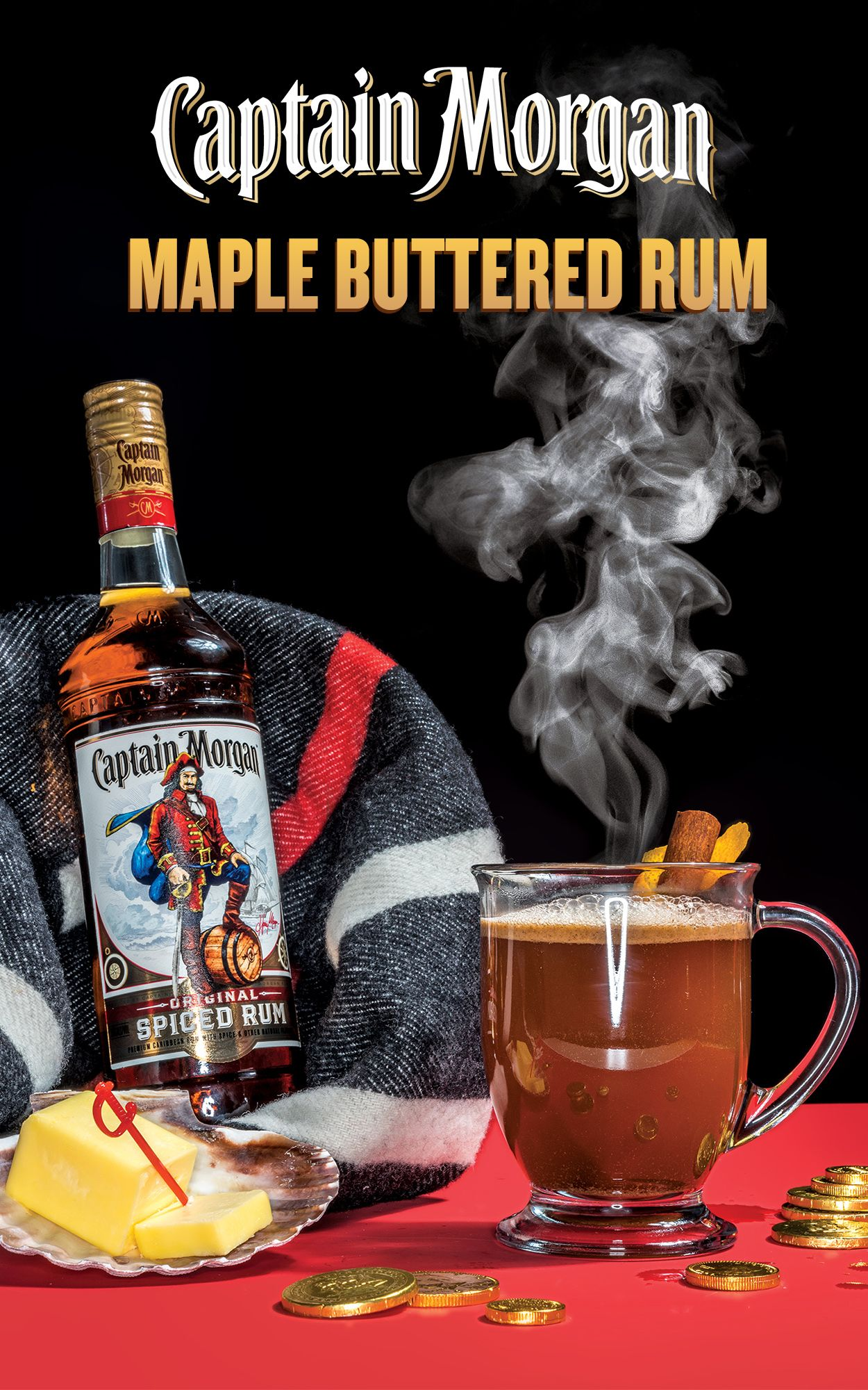 The Captain Morgan Hot Butter Spiced Rum Cocktail A Holiday Spiced Rum Recipe Of Your Wildest Dreams Is Here Spiced Rum Rum Drinks Recipes Spiced Rum Recipes