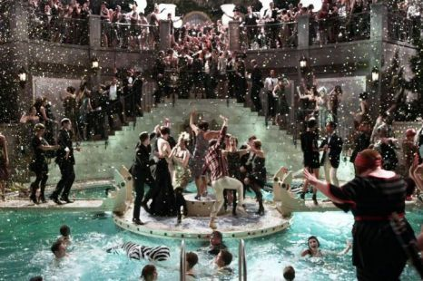 Great Gatsby party- Having a dance floor in the middle of a pool. A little of the unexpected.