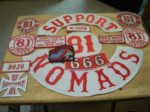 MASSIVE Hells Angels patch and sticker set for sale  Not a bad price