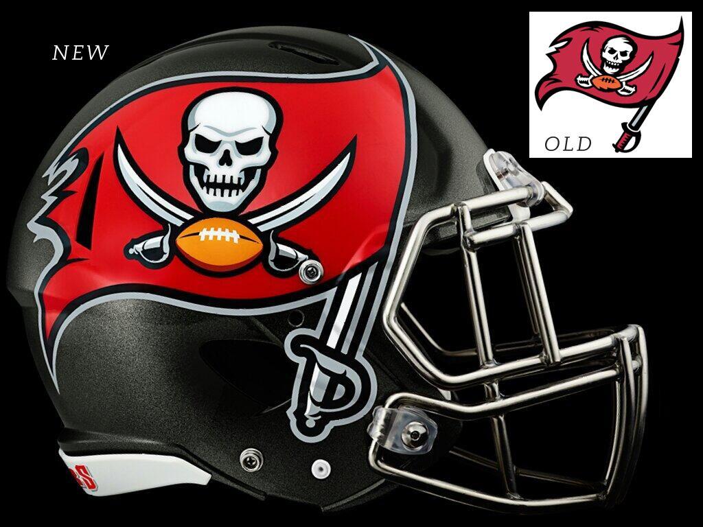 New Tampa Bay Buccaneers logo and helmet Football