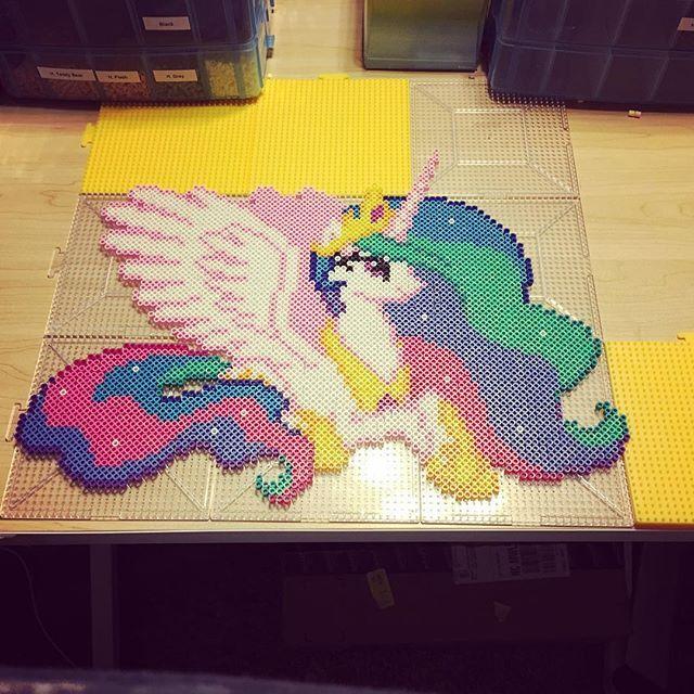 Princess Beads: MLP Princess Celestia Perler Beads By Notenoughspoons