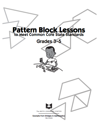 Here's a series of activities using pattern blocks for