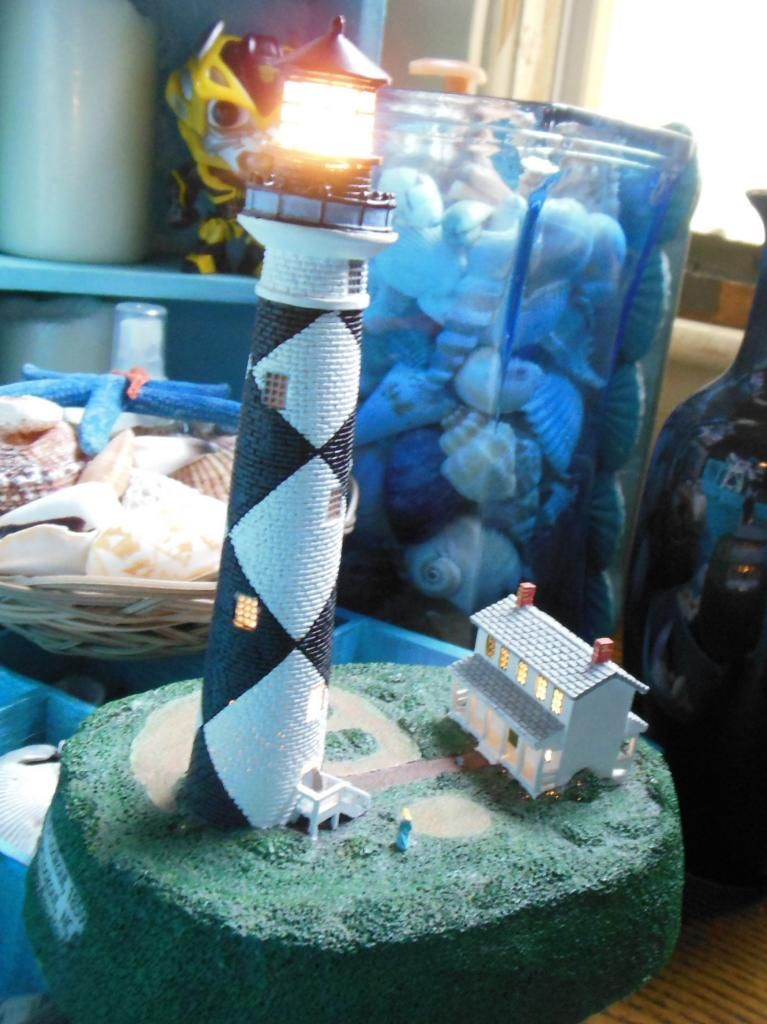 small battery-operated lighthouse