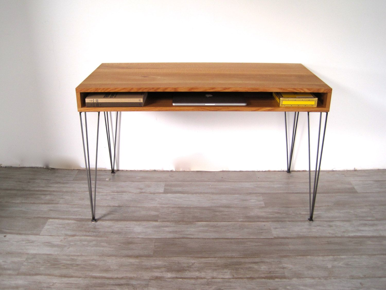Writer S Desk On Pinterest Hairpin Legs Desks And Teak Mid Century Desk Fitted Furniture Furniture
