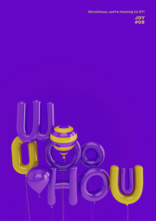 Bring the Joy Posters-8 #3dtypography