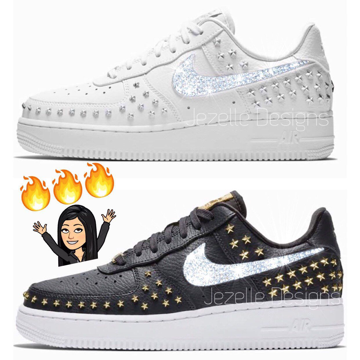 RESTOCKED! Swarovski Nike Air Force 1 '07 for Women