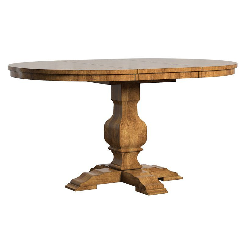 Fortville Extendable Solid Wood Dining Table Oval Table Dining