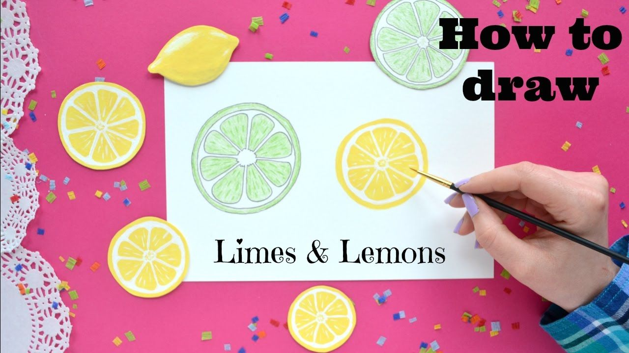how to draw lemons and limes little tamale color and paint