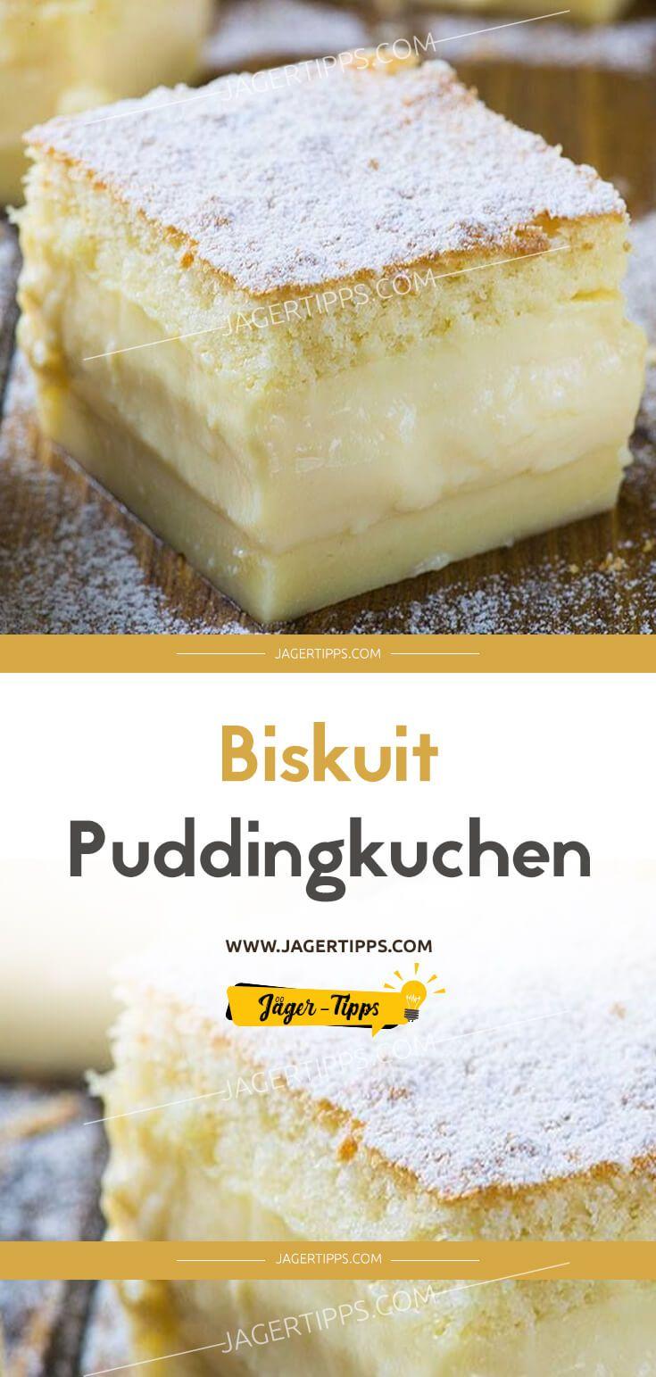 Biskuit Puddingkuchen Rezept Pudding Kuchen Kuchen Kuchen Ohne Backen