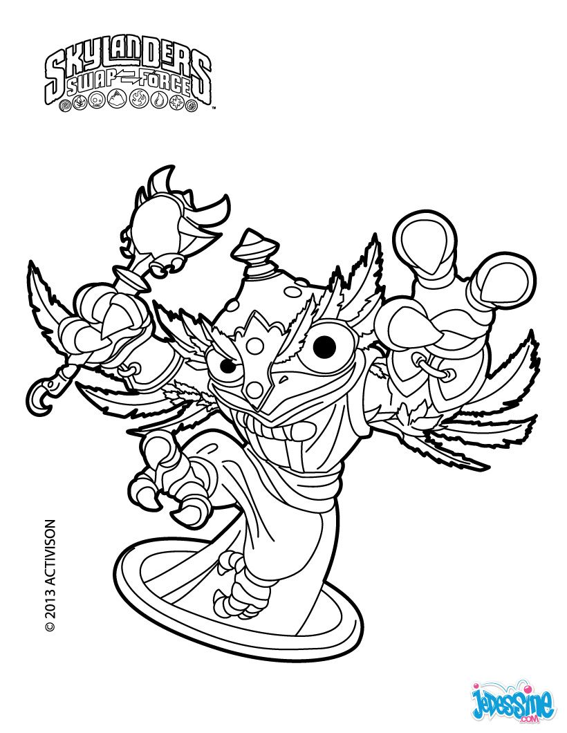 Coloriage Skylander HootLoop