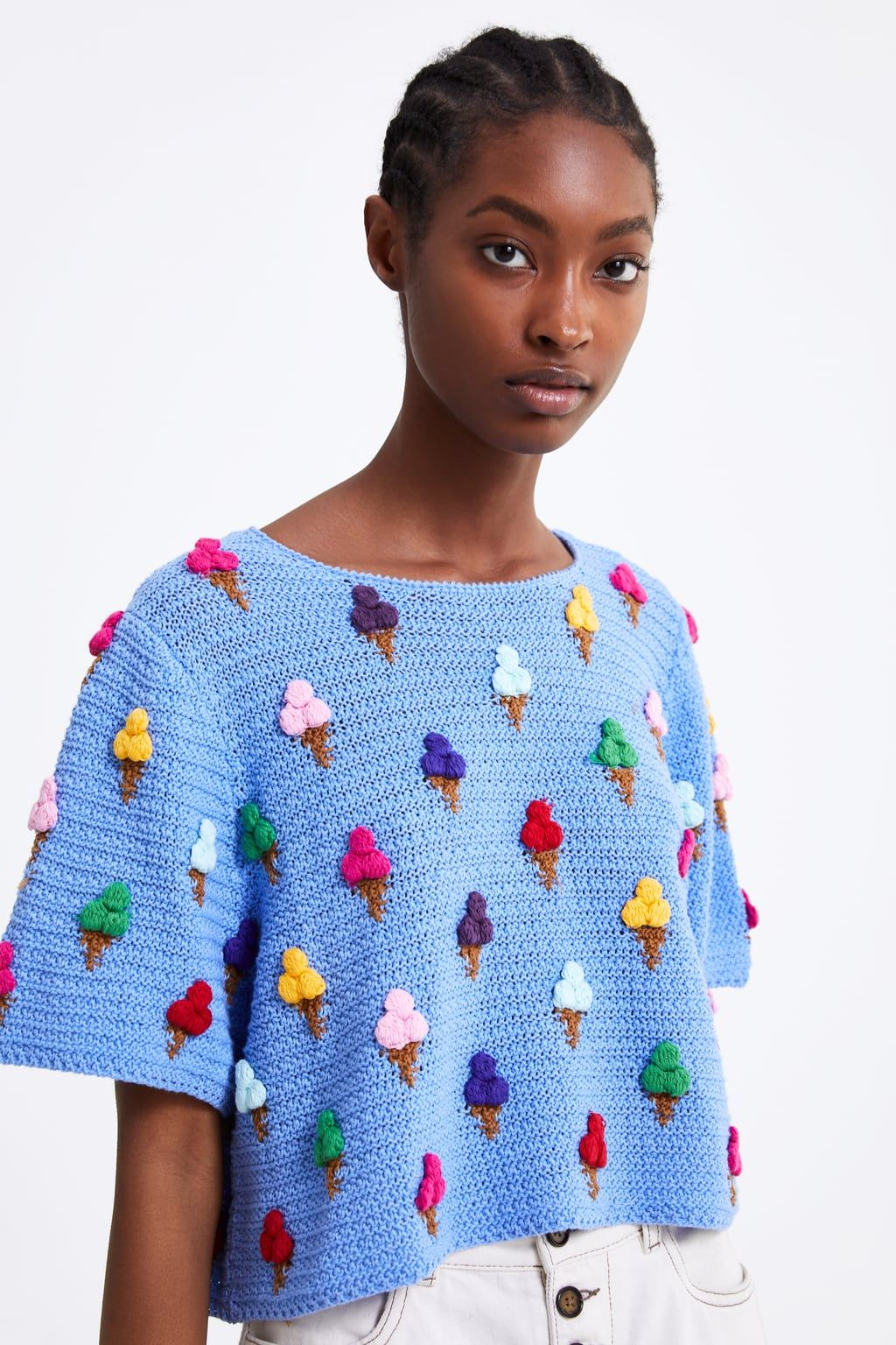 a3e01ae281 Textured ice cream sweater | I ♥ Gifts (Wish List) | Crochet ...