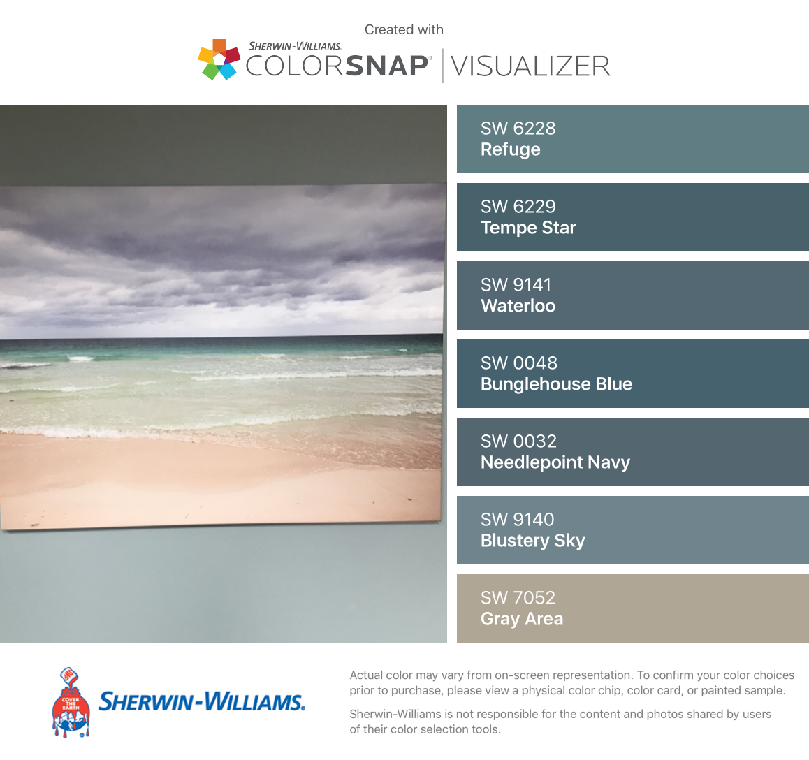 I Found These Colors With Colorsnap Visualizer For Iphone By Sherwin Williams Refuge Sherwin Williams Color Palette Sherwin Williams Colors Sherwin Williams