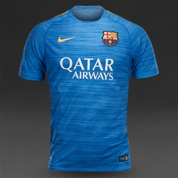 3d509eaafbc Nike FC Barcelona Flash Cool S S Top El - Light Photo Blue Htr University  Gold