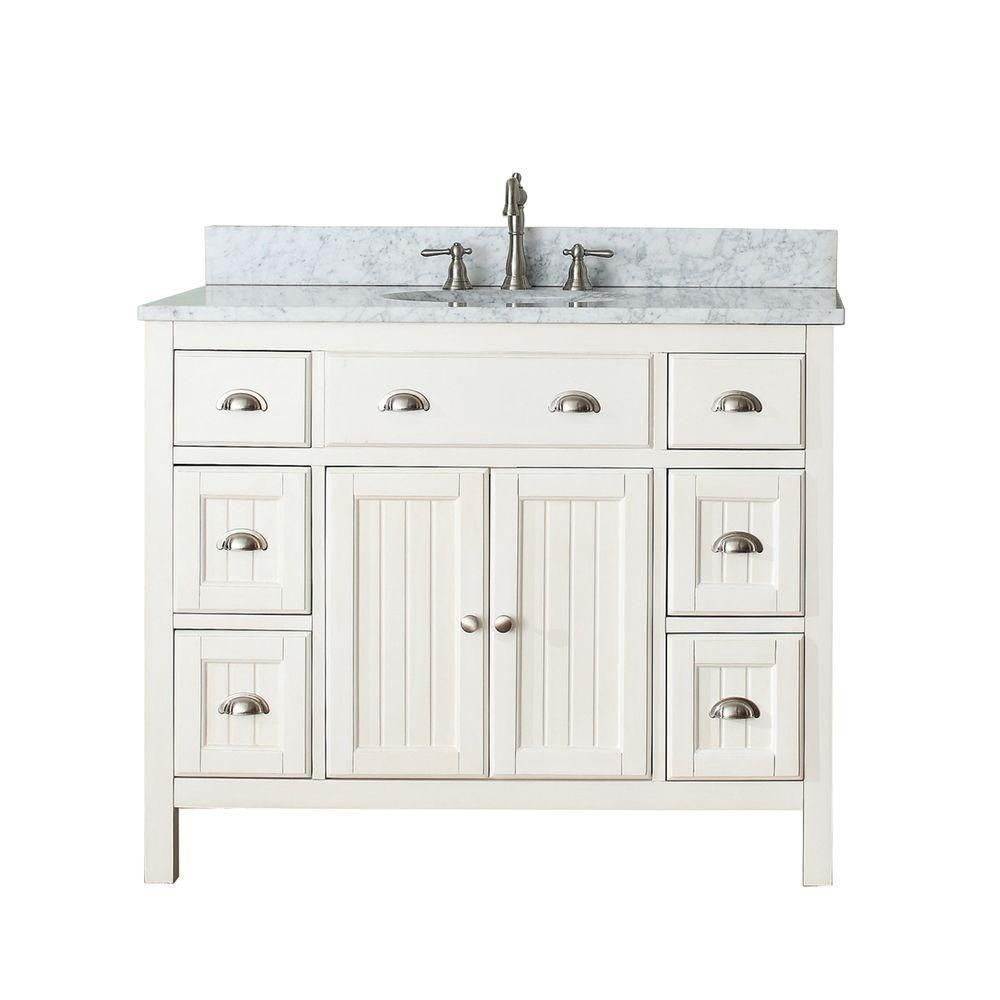 Hamilton 42-inch W Vanity in French White with Marble Top in Carrara on 42 inch vanity top only, white bathroom vanity tops, 42 inch cherry bathroom vanity, home depot bathroom vanity tops, 42 inch bathroom vanities, double sink vanity tops, small bathroom vanity tops, 42 inch fireplaces, 42 inch bathroom vanity set, 42 inch granite vanity top, 42 inch bathroom sink, 42 inch showers, 42 inch furniture, contemporary bathroom vanity tops, 42 inch threshold, 30 vanity tops, 42 inch bathroom mirrors,