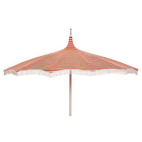 ari pagoda fringe patio umbrella orange white patio umbrellas